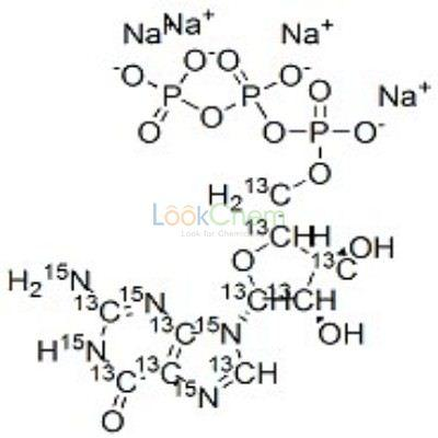 285978-17-8 GUANOSINE-13C10, 15N5 5'-TRIPHOSPHATE SODIUM SALT 99 ATOM %13C 99 ATOM%15N