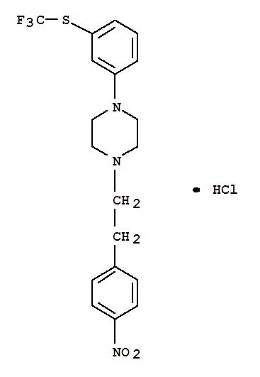 Piperazine,1-[2-(4-nitrophenyl)ethyl]-4-[3-[(trifluoromethyl)thio]phenyl]-, hydrochloride(1:1)
