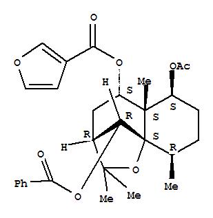 3-Furancarboxylic acid,(3R,5S,5aS,6S,9R,9aS,10R)-6-(acetyloxy)-10-(benzoyloxy)<em>octahydro-2</em>,<em>2</em>,<em>5a</em>,<em>9-tetramethyl-2H-3</em>,9a-methano-1-benzoxepin-5-ylester