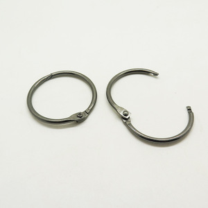 "Lot Silver Open Hook Spring Ring O Ring Round Carabiner Snap Clip 1-¼/"" 1 1000PCS"