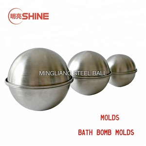 Yiwa Hemisphere Half Round Bath Bomb Mold 3D Aluminum Alloy Ball Sphere Bath Bomb Mold Mould Bath Salt Mold in Different Shap